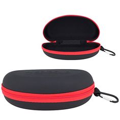 508479dd356 Waterproof Sunglasses Eyeglasses Case Durable Semi Hard EVA Zippered Sport  Glasses or Goggles Holder with Back