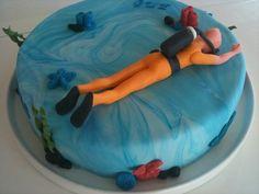 diving cake Dykker kage fondant