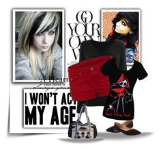 """I won't act my age!"" by awesomepandas-12 ❤ liked on Polyvore"