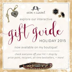 Shop the c+i Gift Guide! Jewelry + gift ideas for your wife, daughter, girlfriend, mother, or any other lucky woman in your life.  Get your holiday and Christmas shopping finished now!