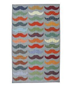 Rainbow Mustache Rug #zulily #zulilyfinds