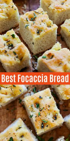 No-fuss and easy Focaccia bread recipe that calls for five basic ingredients that yields soft, fluffy and aromatic Focaccia that pairs well with any main dishes or as a snack or appetizer. Foccacia Recipe, Easy Focaccia Bread Recipe, Easy Bread Recipes, Baking Recipes, Italian Bread Recipes, Easy Fast Bread Recipe, Scd Recipes, Bread And Pastries, The Best
