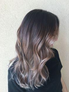 Balayage Dark Brunette, Hair Creations, Cool, Hair Colors, Brown Hair, My Hair, Hairstyles, Long Hair Styles, Beauty