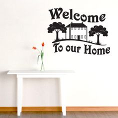 Welcome To Our Home Entryway Wall Decals and Stickers  sc 1 st  Pinterest & Welcome To Our Lake Home Wall Decal | Entryway wall Wall decals and ...