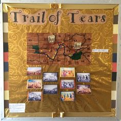 Trail of Tears Bulletin Board Move your covered wagon along the trail that is numbered. When you reach a number, lift the flap and read the fact with the corresponding number.