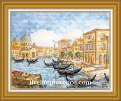 Decorate and Enjoy your Home with Provencal Fine artwork with Original Marina	(Santa 	Maria  VENISE) by renowned French Artist Philippe GIRAUDO. 	www.livelifeprovence.com #llprovence Santa Maria, Fine Artwork, Painting, Artwork, Maria, French Artists, Original Artwork