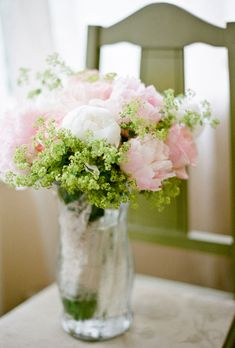 Rose and Peony Wedding Centerpiece... I love the idea of using my bouquet as part of the decor!