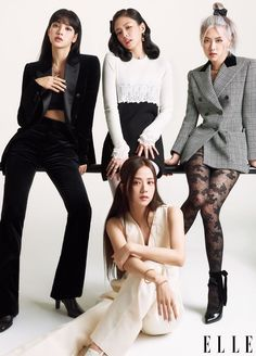 Blackpink's Lisa, Jennie, Rosé, and Jisoo on First Full Album and Global Fame Kpop Girl Groups, Kpop Girls, Jenny Kim, Looks Teen, Blackpink Debut, Black Pink Kpop, Blackpink Photos, Blackpink Fashion, Korean Fashion