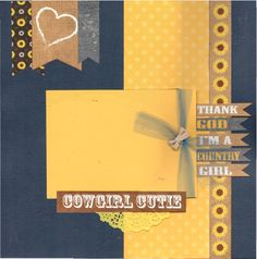 2 page Scrapbooking Page kit -Thank God I'm a Country Girl by CropALatteToGo on Etsy