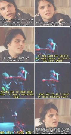 And people say that MCR is hateful emo rubbish. Thank you Gerard, i love that you stand up for what i dedicate so much of my life to defending. #MyChemicalFeminism ❤️