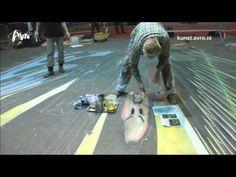 ▶ StreetArt - AVRO Kunst - 3D tekenen, doe het lekker zelf! (AVRO StreetArt maand) - YouTube