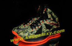 """Nike Lebron 10 """"Hunter"""" Camouflage Orange Outsole"""