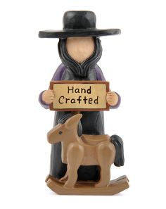 """Amish Man with """"Hand Crafted"""" Rocking Horse  $6.99"""