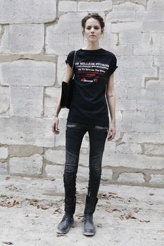 Freja Beha Erichsen wears skinny jeans and boots like no other