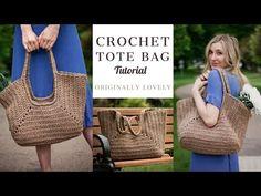 Crochet Tote, Crochet Handbags, Crochet Purses, Knit Crochet, Beginner Crochet Tutorial, String Crafts, Market Bag, Handmade Bags, Straw Bag