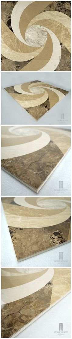 Spain Bu?ol Emperador Light Marble Waterjet Marble Designs Thin Laminated Waterjet Medallions Marble Price Home Decor