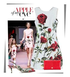 """""""Apple of my eye.. Dolce & Gabbana"""" by conch-lady ❤ liked on Polyvore featuring moda e Dolce&Gabbana"""