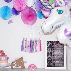 [Thelma] Amazing unicorn party from the lovely @mini_andmummy. Happy 2nd Birthday Charlotte!