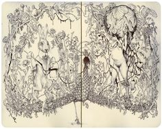 Google Image Result for http://jamesjean.com/blog_images/moleskine-peacock_detail.JPG