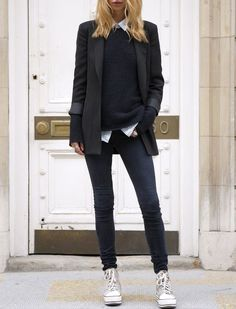 Business Fashion Ladies Business Outfit Woman Athletic Source by Cute Tomboy Outfits, Tomboy Chic, Tomboy Fashion, Mode Outfits, Look Fashion, Trendy Fashion, Winter Fashion, Casual Outfits, Tomboy Style