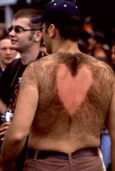 Hairy Back Valentine what the hell, this is disgusting