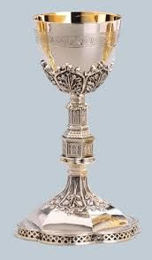 Gothic Chalice by Artistic Silver from Henninger's Religious Goods in Cleveland Trophy Design, Wedding Cups, Shell, Fruit Art, Gold Art, Nautilus, Religious Art, Antique Silver, Glass Art
