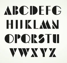 Art Deco Typography, Art Deco Font, Hand Lettering Alphabet, Alphabet Art, Script Lettering, Cool Fonts Alphabet, Letter Fonts, Calligraphy Print, Typography Letters