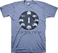 Control Freak Xbox Playstation Nintendo Funny T-shirt Playstation, Xbox, Nintendo, Funny Tshirts, Control, Video Games, Mens Tops, T Shirt, Android