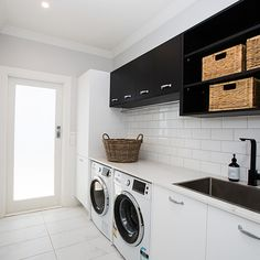 """See our site for additional information on """"laundry room storage diy small"""". It is an exceptional location to learn more. Small Laundry Rooms, Laundry Room Organization, Laundry In Bathroom, Diy Organization, Washroom, Reno Rumble, Laundy Room, Laundry Room Inspiration, Laundry Room Design"""