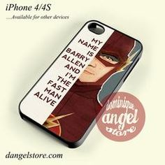 The Flash Quotes Phone case for iPhone 4/4s and another iPhone devices - iPhone 5/5S / White