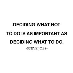 Deciding what not to do is as importa Diet Meals, Diet Recipes, Glendale Arizona, Choice Awards, Steve Jobs, Asd, Apple Cider, Whisky, Food Food