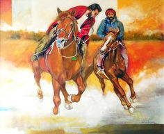 Artist: Shan Amrohvi Artwork Code: AC-SA-007 Medium: Oil on Canvas Size: 30 x 36 inch