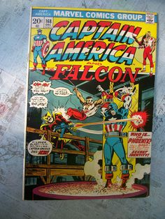 Vintage Marvel Comics Group Captain America and by GadzooksGladys