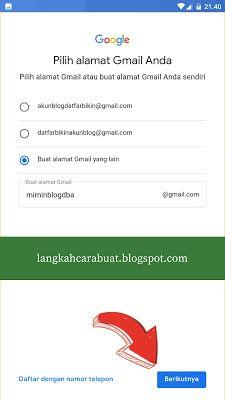 Daftar Gmail Buat Email Gmail Baru Di Android Langkah Cara Buat Huruf Aplikasi Google