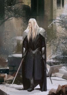 """sigun-i-loki: """"Thranduil by Yulong Chang """" Legolas Und Thranduil, Aragorn, Paladin, Dark Fantasy, Fantasy Art, Fantasy Images, Character Inspiration, Character Art, King Of My Heart"""
