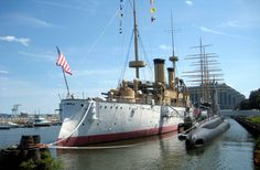 USS Olympia C-6.  Admiral Dewey's flagship that led the fleet into Manilla Bay during the Spanish American War in 1898.