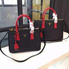 Prada 1BA863 Two-tone Galleria Saffiano Leather Bag 2016