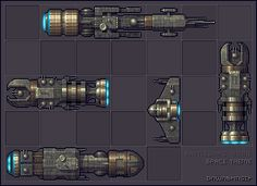 Battleships - Space Theme Icon, Pixel Art, Buddy Icons, Forum Avatars