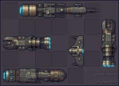 Battleships - Space Theme Icon, Pixel Art, Buddy Icons, Forum Avatars