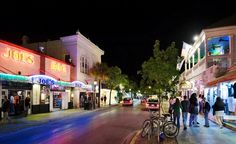 Duvall Street in Key West. Sloppy Joe's was the famous hangout of Hemingway. Lots of bars up and down the street. You do the Duvall Crawl. The best t-shirt I saw said I got Duvall Faced on Sh*t Street.