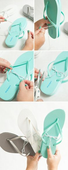 f83104f312c0 How-to DIY Your Own Wedding Flip Flop