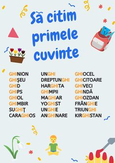 Romanian Language, Math For Kids, Kids Education, Speech Therapy, Grammar, Student, Learning, Cl, English