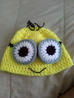 Minion crochet hat / gorro de minion en crochet