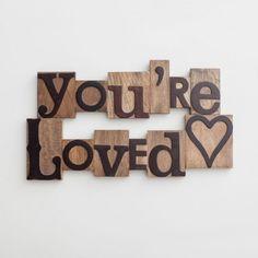 You're Loved - Letterpress Block Set