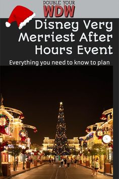 Holidays at Disney World will look a little different in 2021. This year Disney will be introducing Disney Very Merriest After Hours event at Magic Kingdom. This event will replace Mickey's Very Merry Christmas Party in 2021. Find out everything we know about this event here! Disney | Disney World | Walt Disney World | Disney holidays | Disney Christmas | DIsney vacation | vacation planning | Disney bound Magic Kingdom Rides, Disney World Magic Kingdom, Disney World Parks, Disney World Planning, Disney World Vacation, Disney World Resorts, Disney Vacations, Disney World Tips And Tricks, Disney Tips