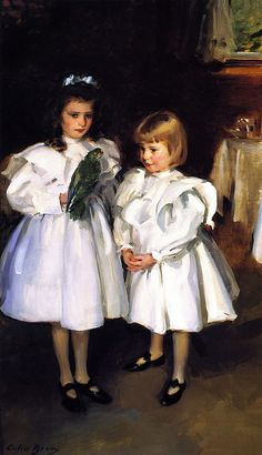 ▫Duets▫ sisters, twins & groups of two in art and vintage photos - Cecilia Beaux | Gertrude and Elizabeth Henry