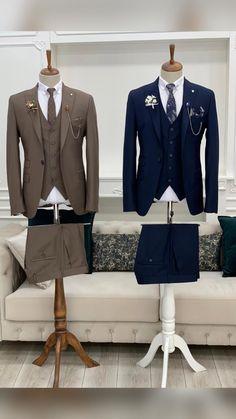 Prom Suits For Men, Best Suits For Men, Cool Suits, Blue Slim Fit Suit, Red Suit, Black Suits, Best Smart Casual Outfits, Stylish Mens Outfits, Wedding Suits