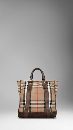 Burberry - VINTAGE WASHED CHECK TOTE BAG