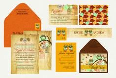Ethnic Owl Collection - Vintage Wedding Invitation Indian Wedding Invitations, Ethnic, Reception, Owl, Collection, Owls, Receptions