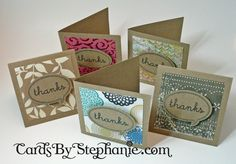 Good way to purge my scrap stash. Small Thank You Cards